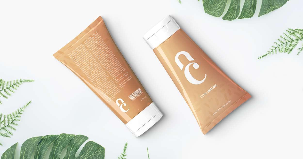 Cream Tube Package Design